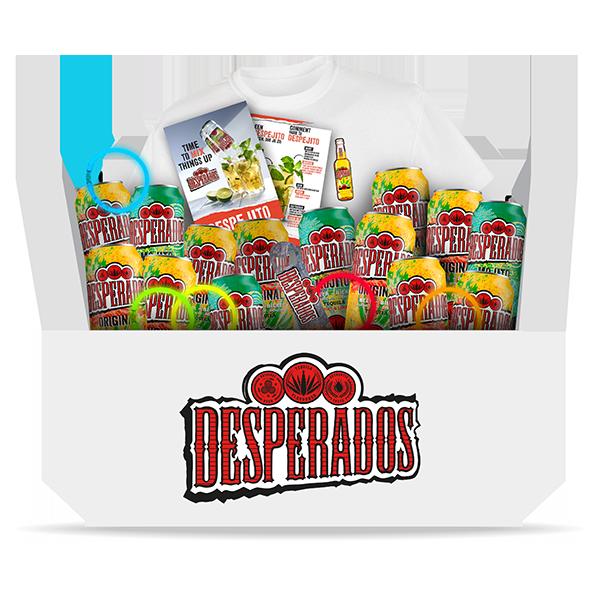 Jouw Desperados Party Box voor slechts € 19,35 i.p.v. € 34,50