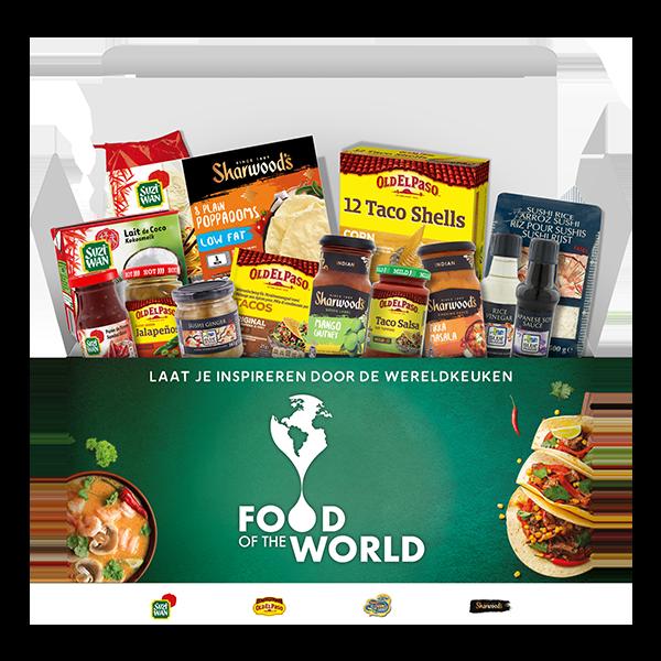 """Jouw """"Food of the World"""" Keuken Box voor € 29,99 i.p.v. € 51"""