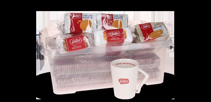 """Votre """"Boîte de biscuits Lotus"""" pour 29,90 € au lieu de 41,10 €."""